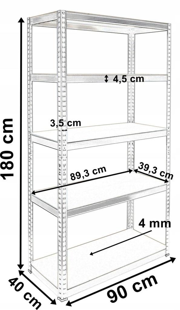 - REGAL-MAGAZYNOWY-2w1-METALOWY-180x90x40cm-875-kg-Glebokosc-40-cm