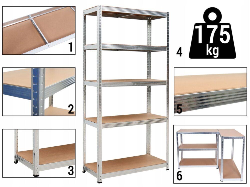 - REGAL-MAGAZYNOWY-2w1-METALOWY-180x90x40cm-875-kg-Kod-produktu-Rg5